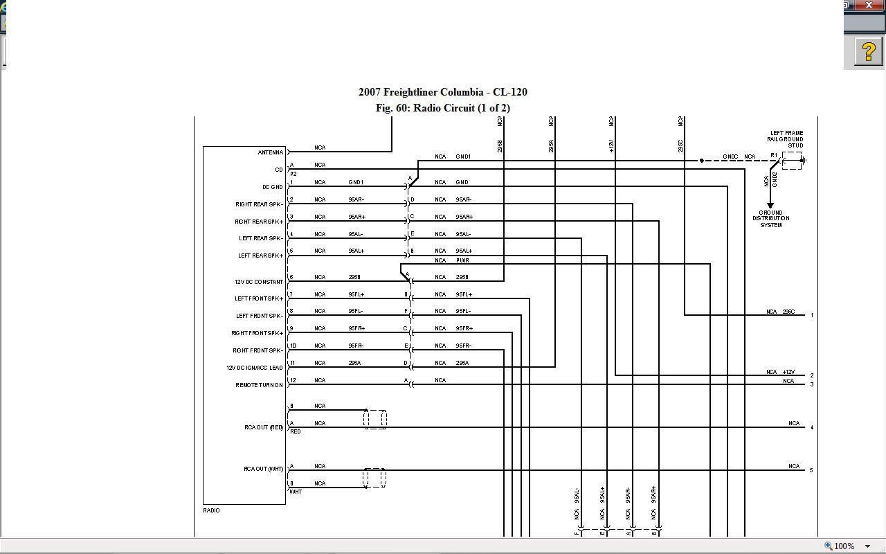 Freightliner Cascadia Radio Wiring Diagram
