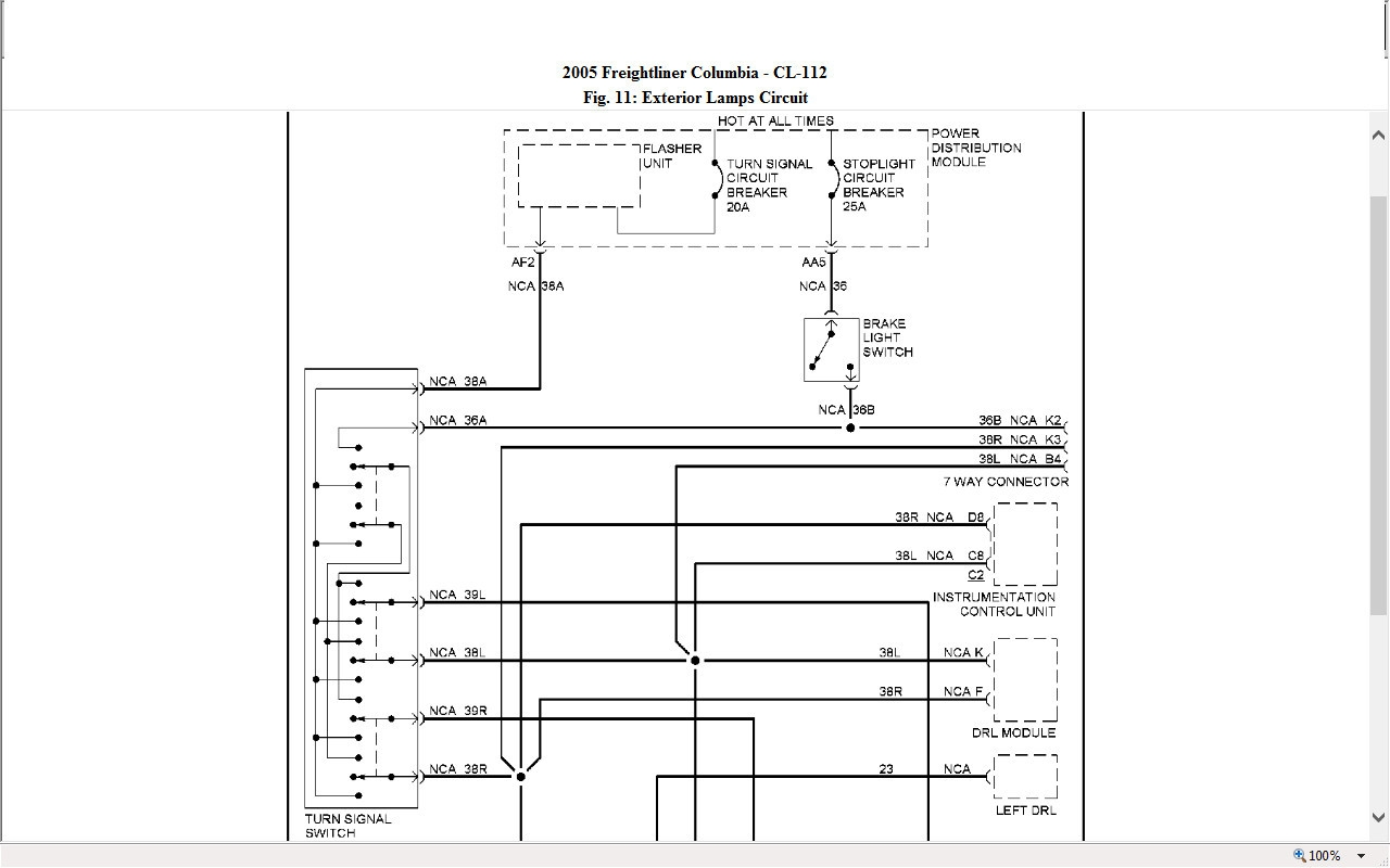 Freightliner Columbia Wiring Schematic Free Diagram 2012 Cascadia Download I Have A 2005 And The Tail Marker Lights