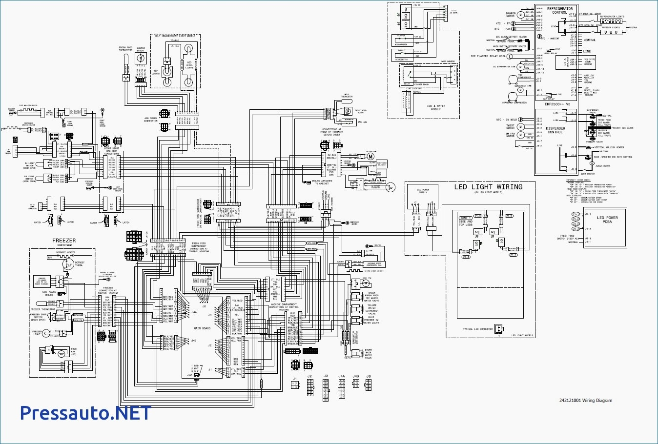 wiring diagram for frigidaire refrigerator