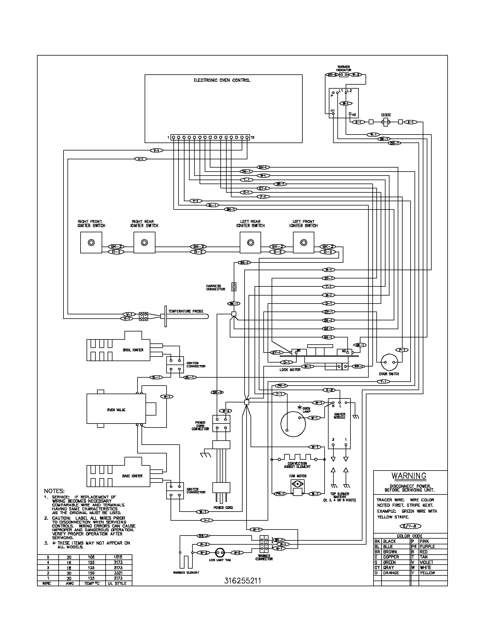 Frigidaire Stove Wiring Diagram