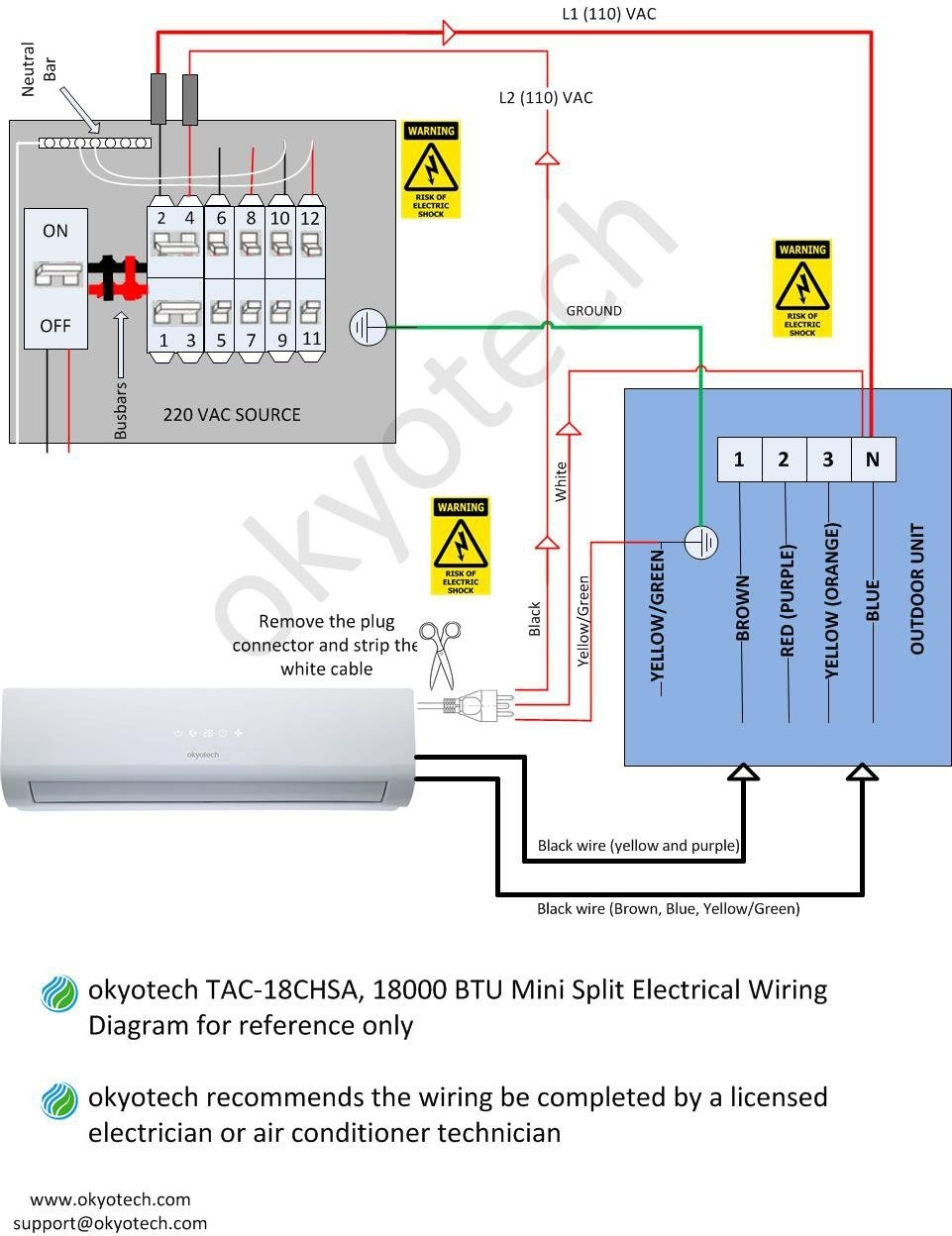 Fujitsu Mini Split Heat Pump Wiring Diagram