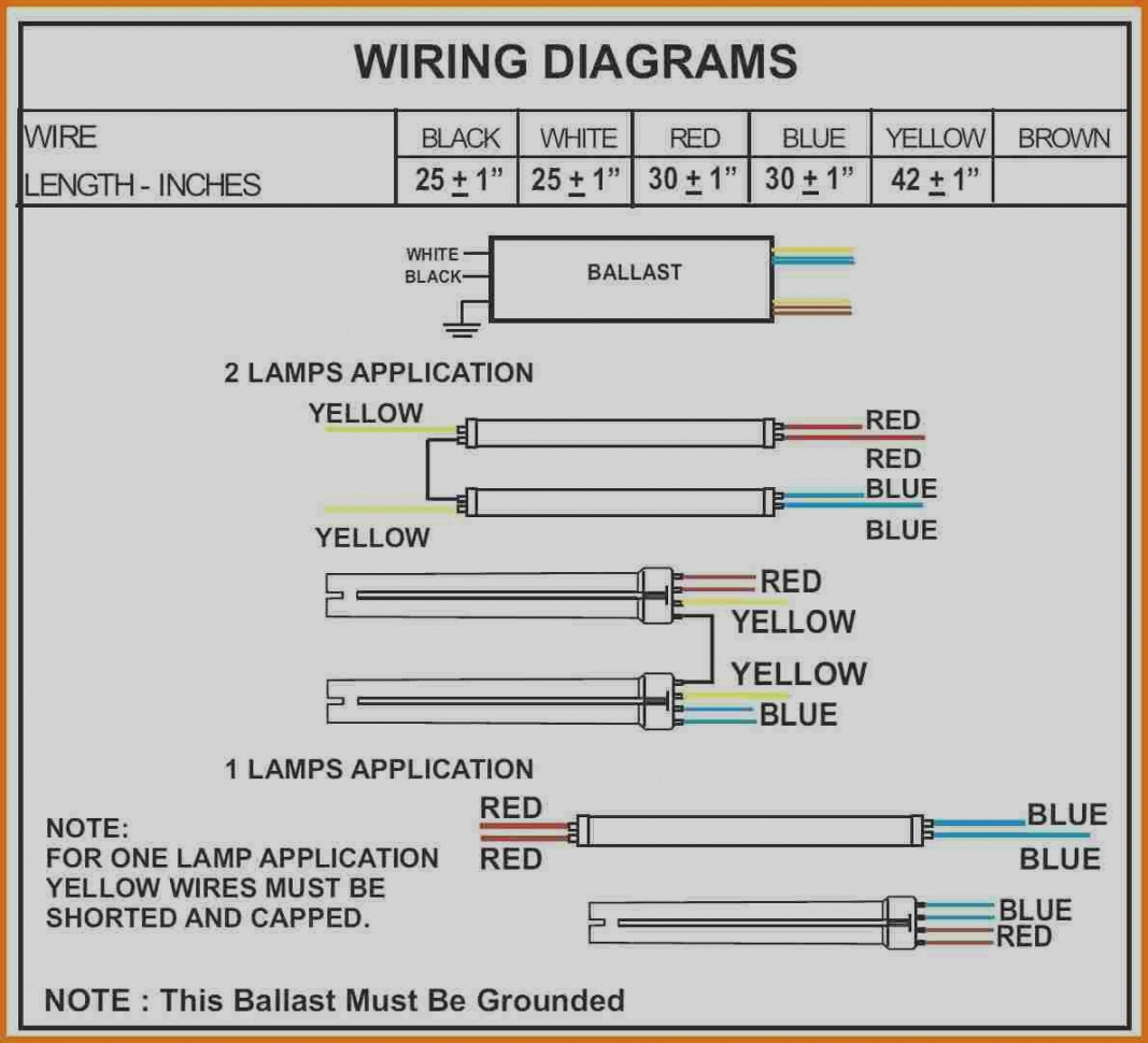 Light Ballast Wiring Diagrams 2 - Technical Diagrams on