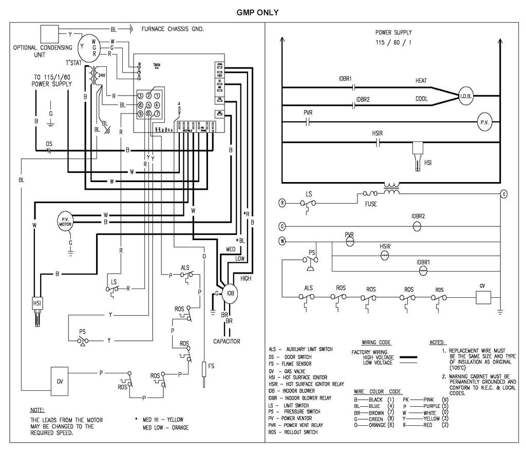 Gas Furnace Control Wiring Diagram - Wiring Diagrams Place