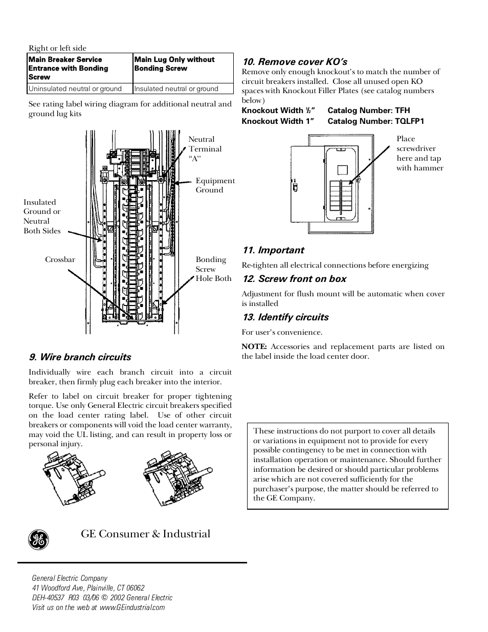 ge powermark gold load center wiring diagram Download-Load Centers User Manual Page 2 4 Ge Consumer Solutions Power Mark Gold 5-i