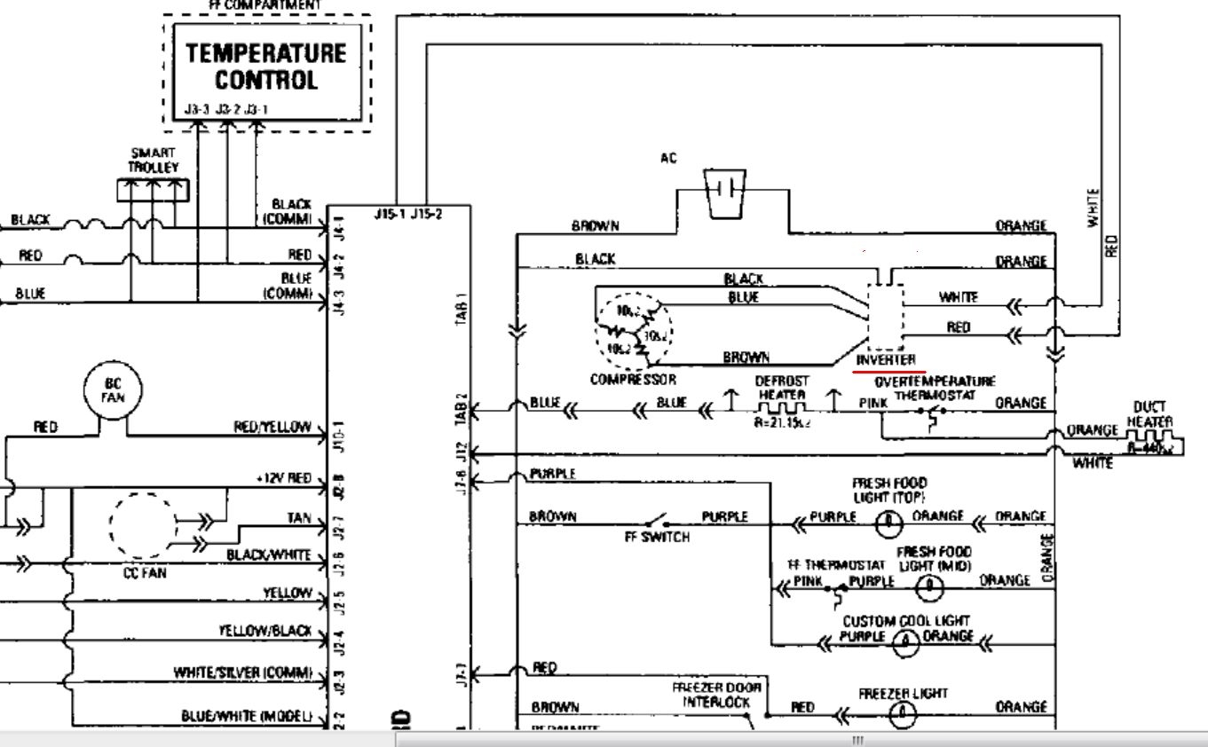 for samsung refrigerator rs2530bbp wiring diagram samsung washing machine wiring diagram