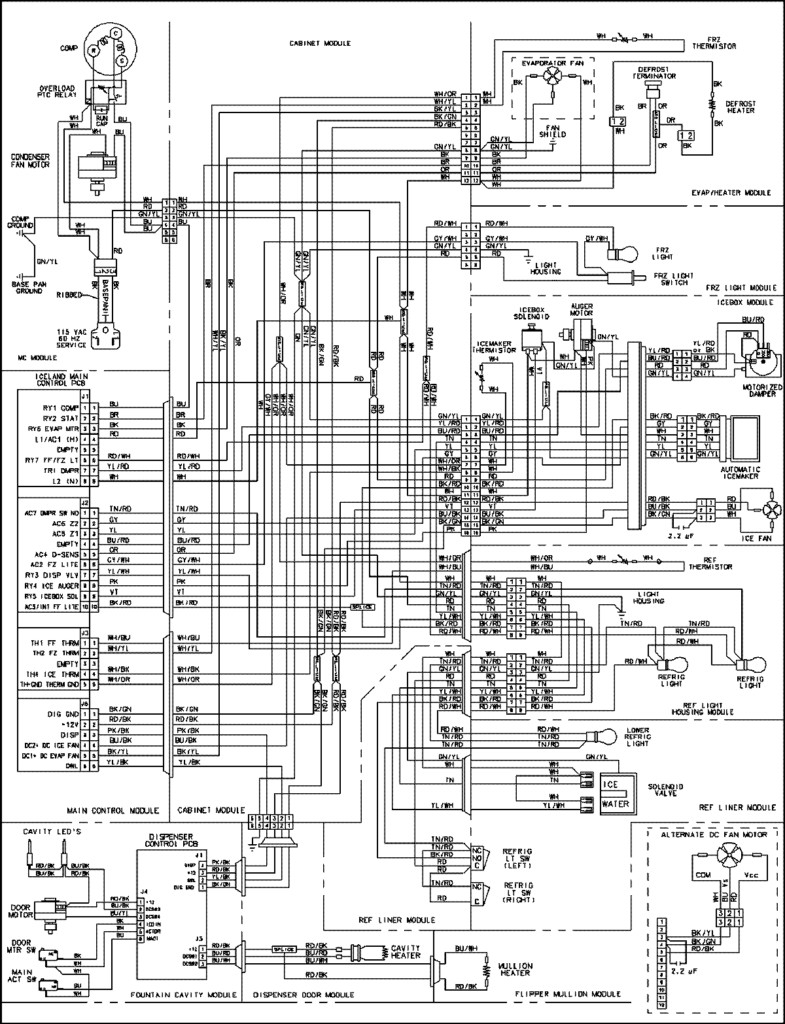 ge refrigerator wiring schematic free wiring diagram. Black Bedroom Furniture Sets. Home Design Ideas