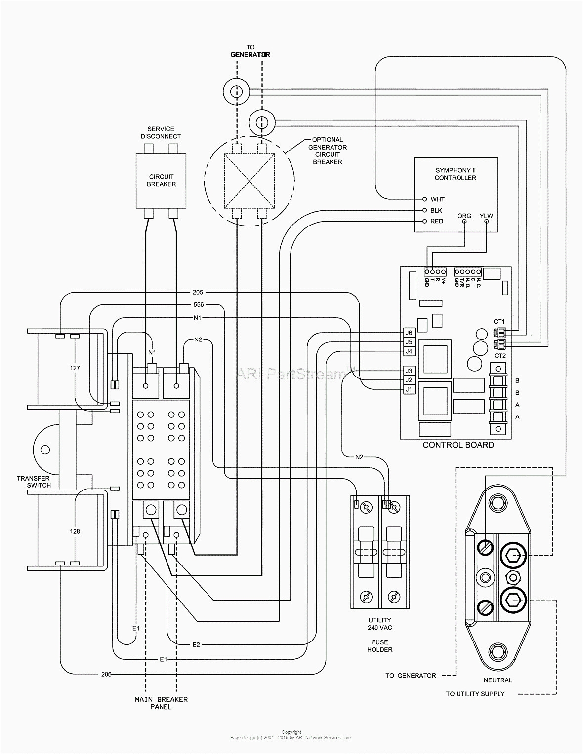Generac 100 Amp Automatic Transfer Switch Wiring Diagram