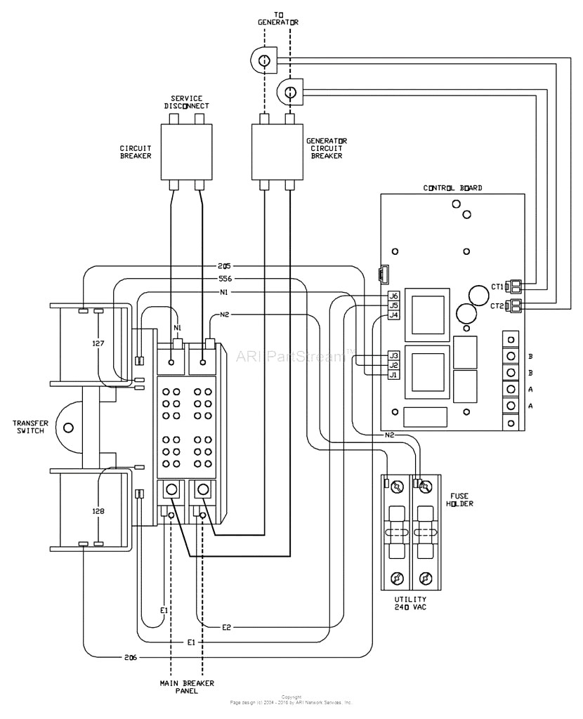 generac whole house transfer switch wiring diagram Download-Generac Ats Wiring Illustration Wiring Diagram • 1-b