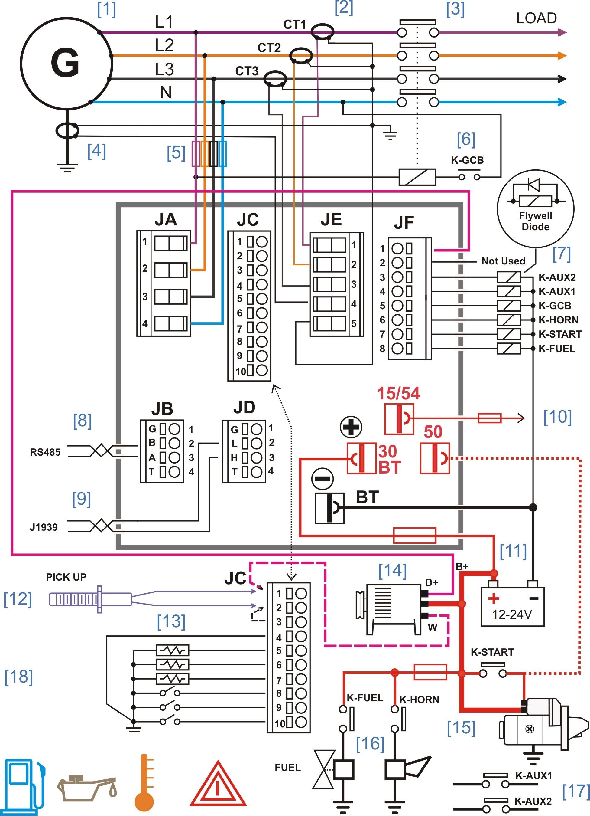 Generator Control Panel Wiring Diagram