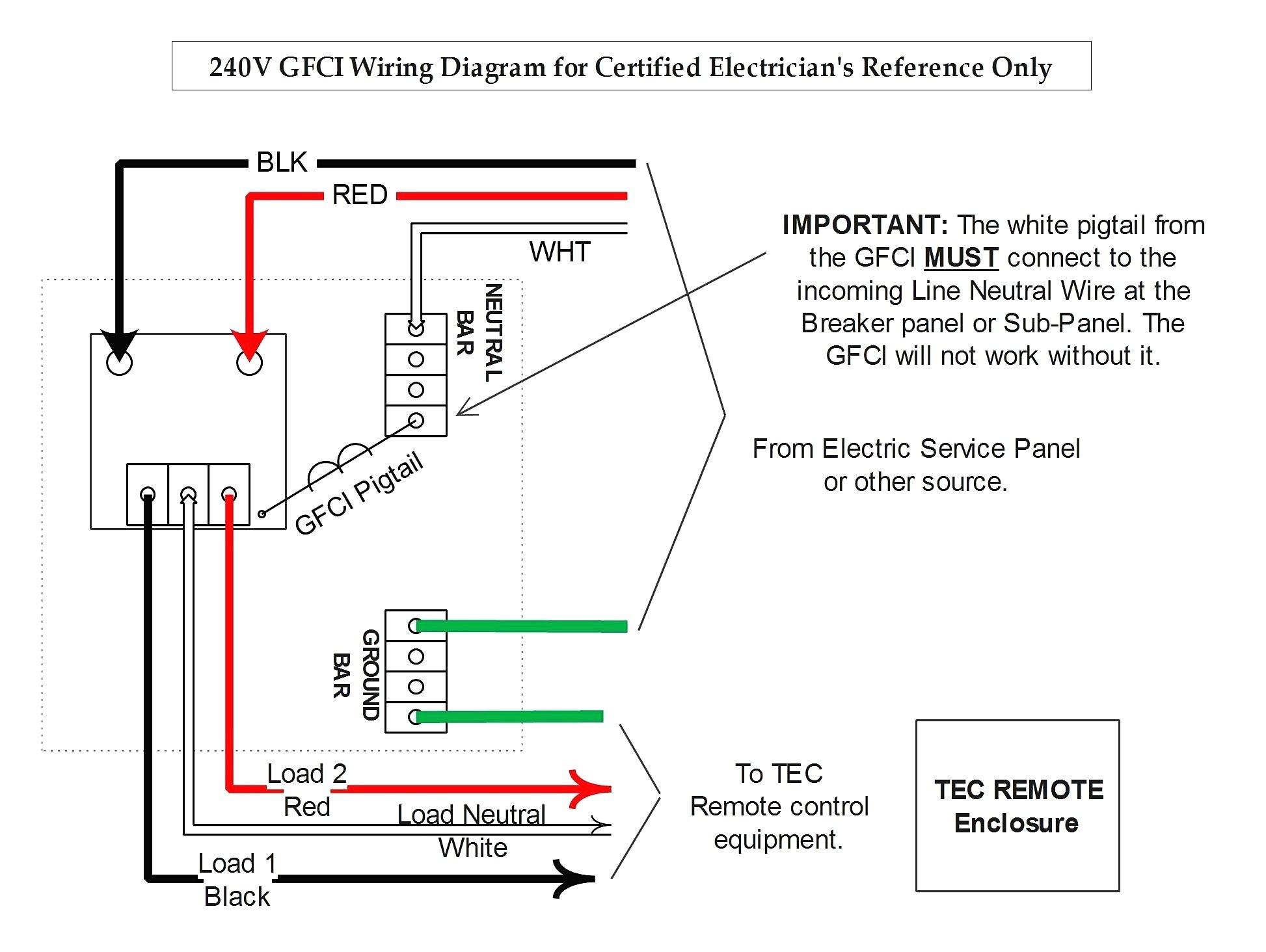 Gfci Receptacle Wiring Diagram | Free Wiring Diagram