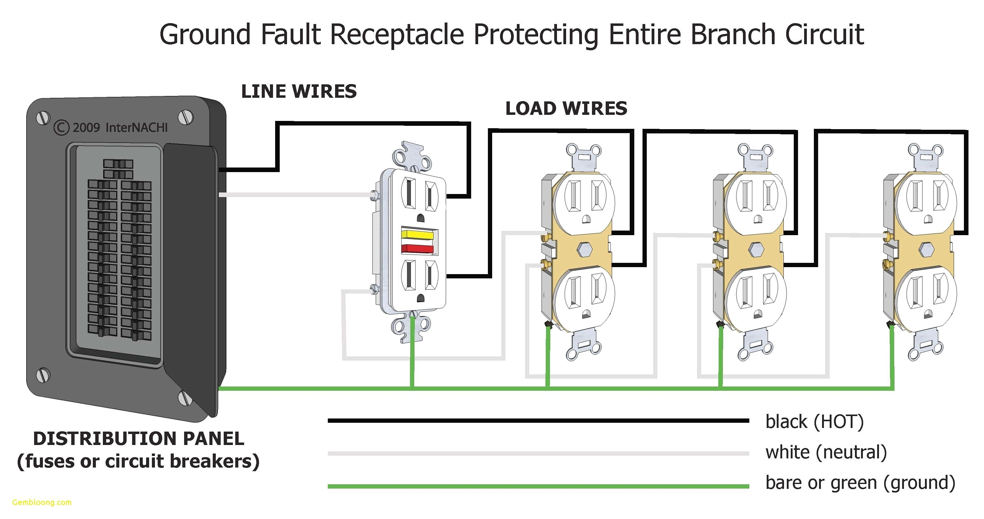 gfci receptacle wiring diagram Collection-Wiring Diagram for A Switch Controlled Gfci Receptacle Inspirationa Wiring Diagram for A Gfci Outlet Refrence 6-q
