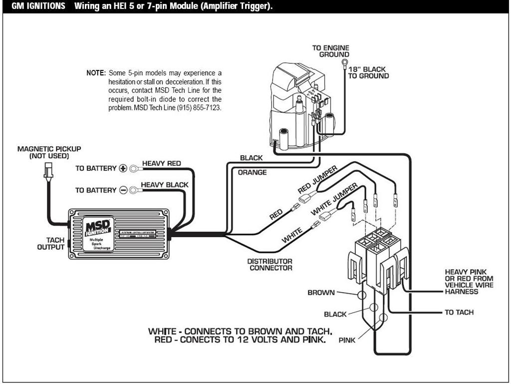 msd 6al wiring diagram gm hei distributor wiring schematic | free wiring diagram