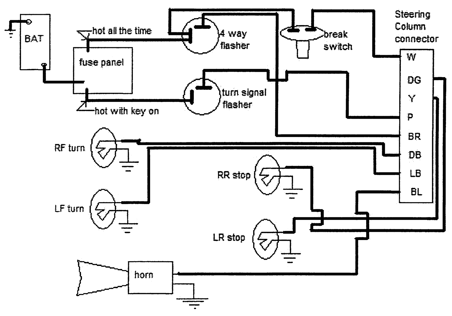 Gm Steering    Column       Wiring       Schematic      Free    Wiring       Diagram
