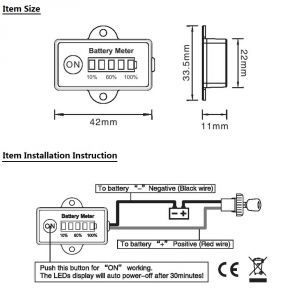 Golf Cart Battery Meter Wiring Diagram - Pics Madrid Protection Achat Aliexpress Store 11b