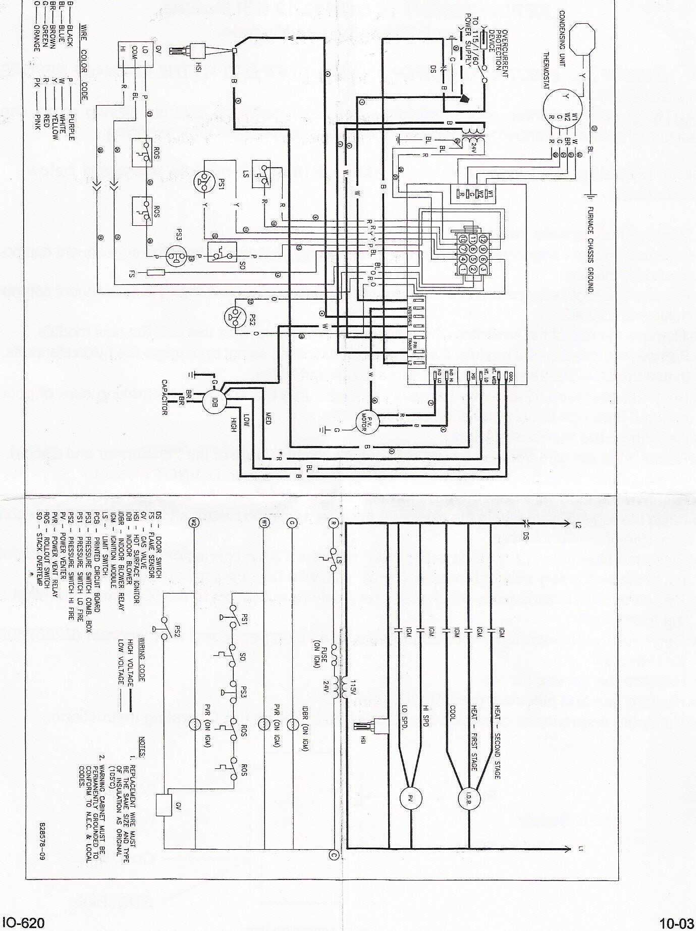 goodman air conditioning wiring diagram