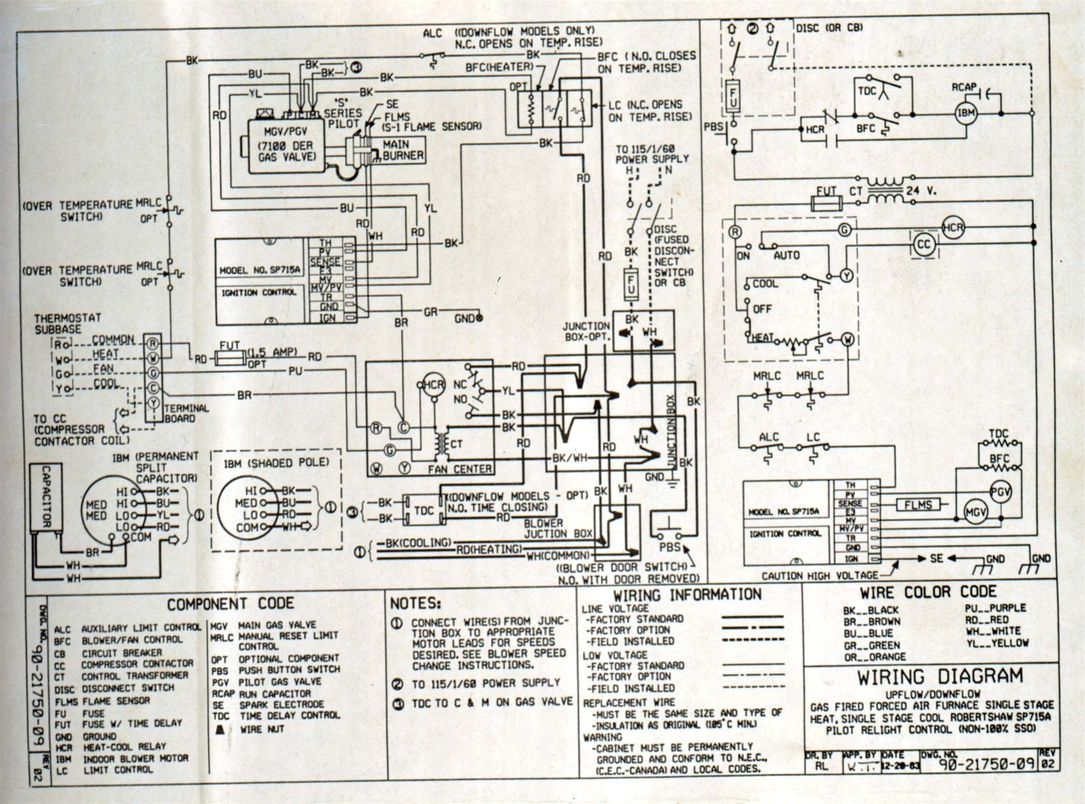 goodman gas furnace wiring diagram Collection-Wiring Diagram Goodman Gas Furnace Fresh Goodman Manufacturing Wiring Diagrams Wire Center • 4-l