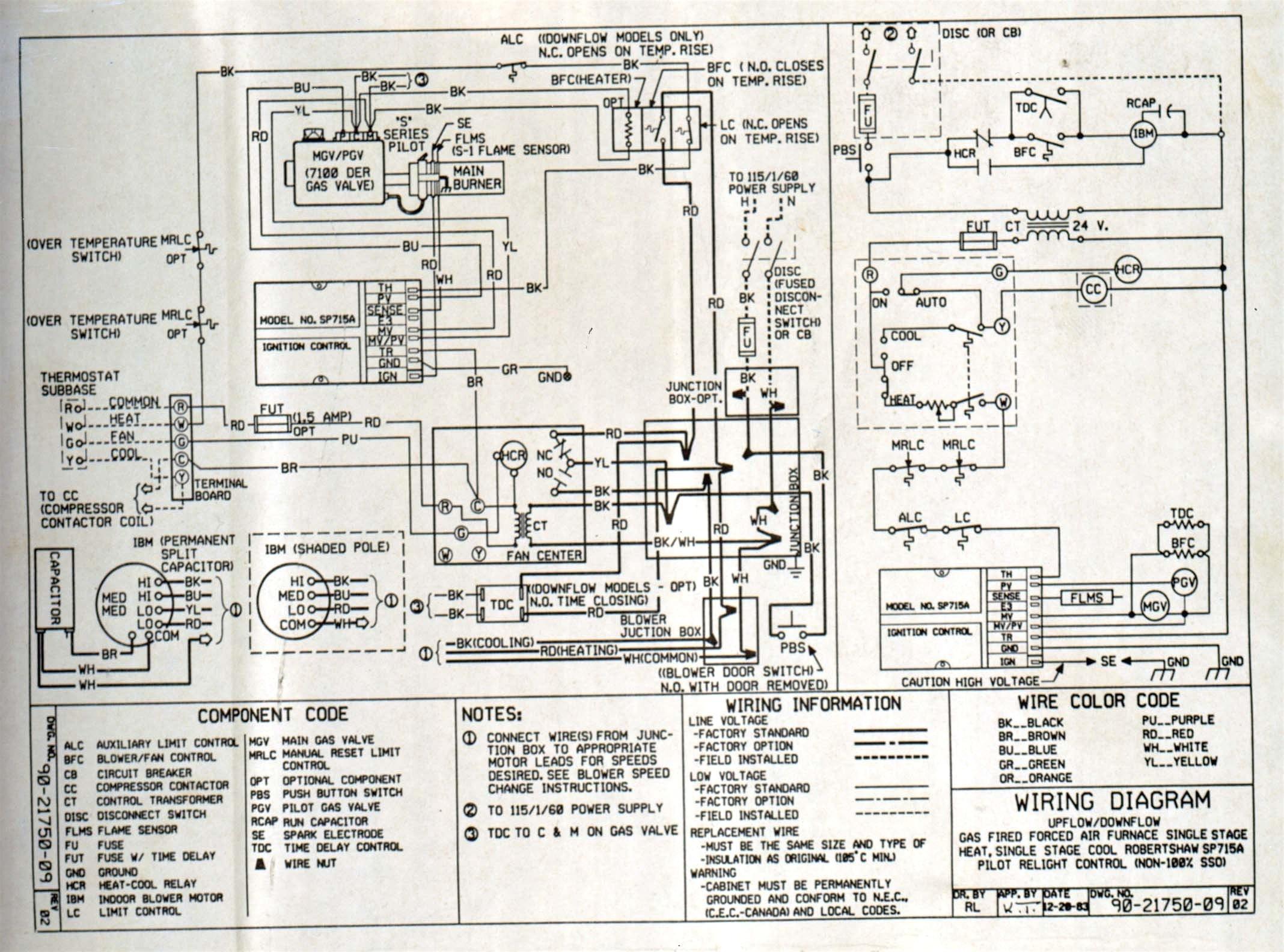 Pc036 Wiring Schematic Goodman | Schematic Diagram on