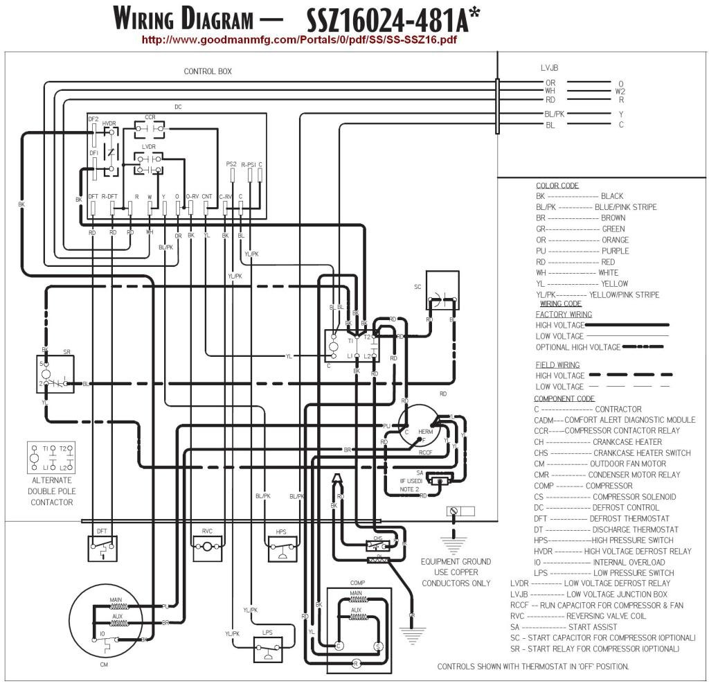 goodman heat pump air handler wiring diagram free wiring. Black Bedroom Furniture Sets. Home Design Ideas