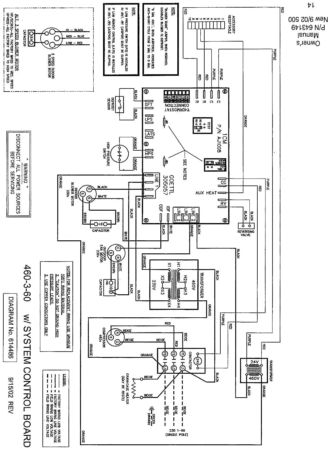 Goodman Heat Pump Wiring Schematic