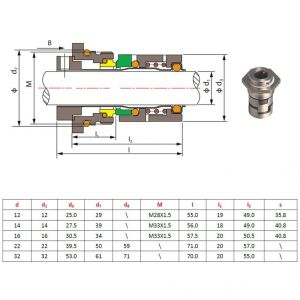 Grundfos Pump Wiring Diagram - Grundfos Pump Wiring Diagram Fresh Gogoal Mechanical Seal Cr Shaft Size 12mm Cartridge Seal for 6g