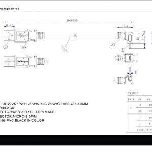 Guard Dog Rb 122 E Wiring Diagram - Usb to Cat5 Wiring Diagram New 1m Usb to Down Angle Micro Usb Cable Apc 16s
