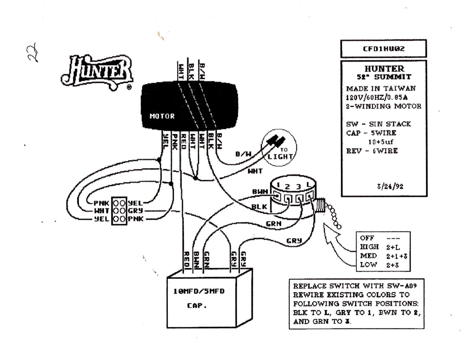 hampton bay ceiling fan wiring schematic Download-Wiring Diagram For Light And Fan Print Replacing A Ceiling Fan Pull Switch In Hampton Bay 3 Speed Wiring 15 12-c