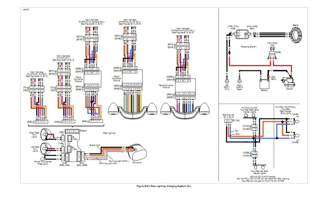 harley davidson tail light wiring diagram