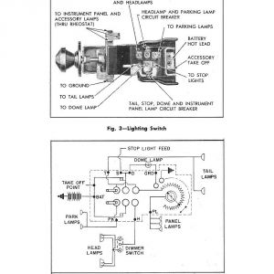 Headlight Switch Wiring Diagram Chevy Truck - 1955 Lighting Switch & Circuit 4n