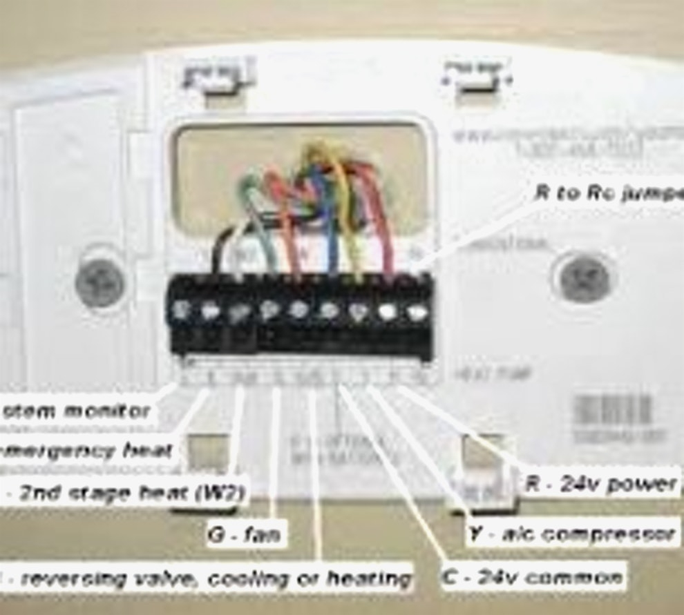 heat pump thermostat wiring diagram honeywell free. Black Bedroom Furniture Sets. Home Design Ideas