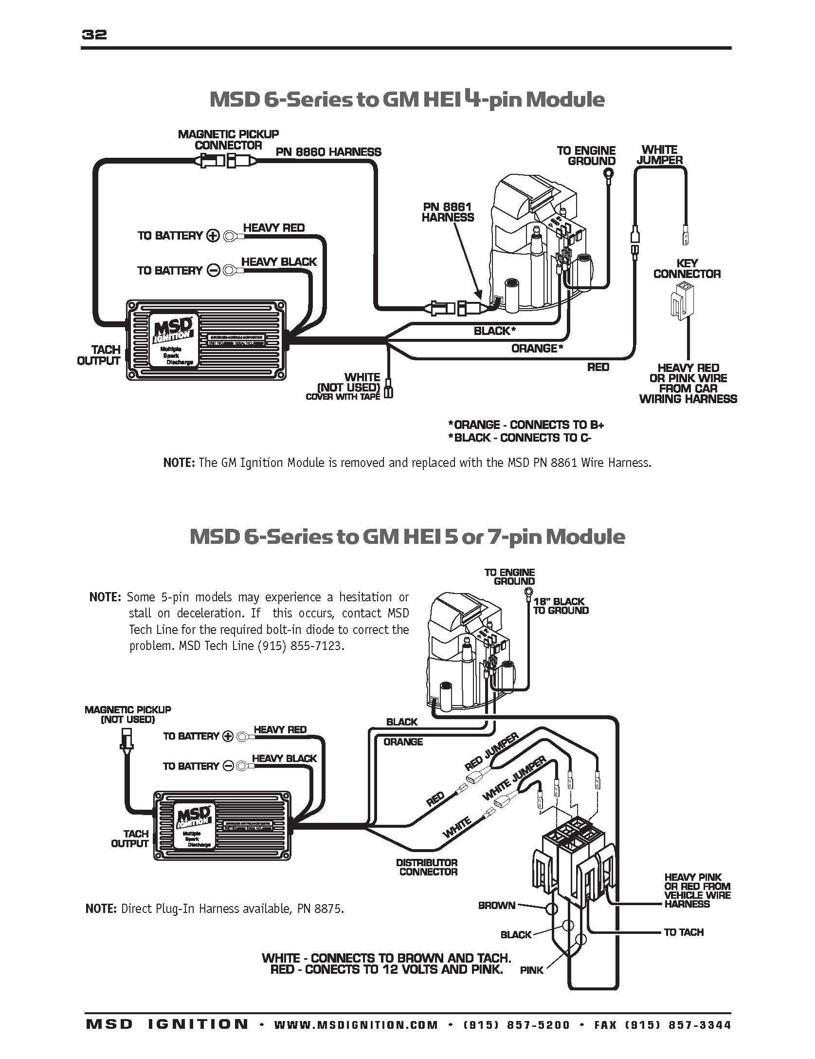 Hei Distributor Wiring Diagram - Msd Hei Distributor Wiring Diagram Wire Center • 13m