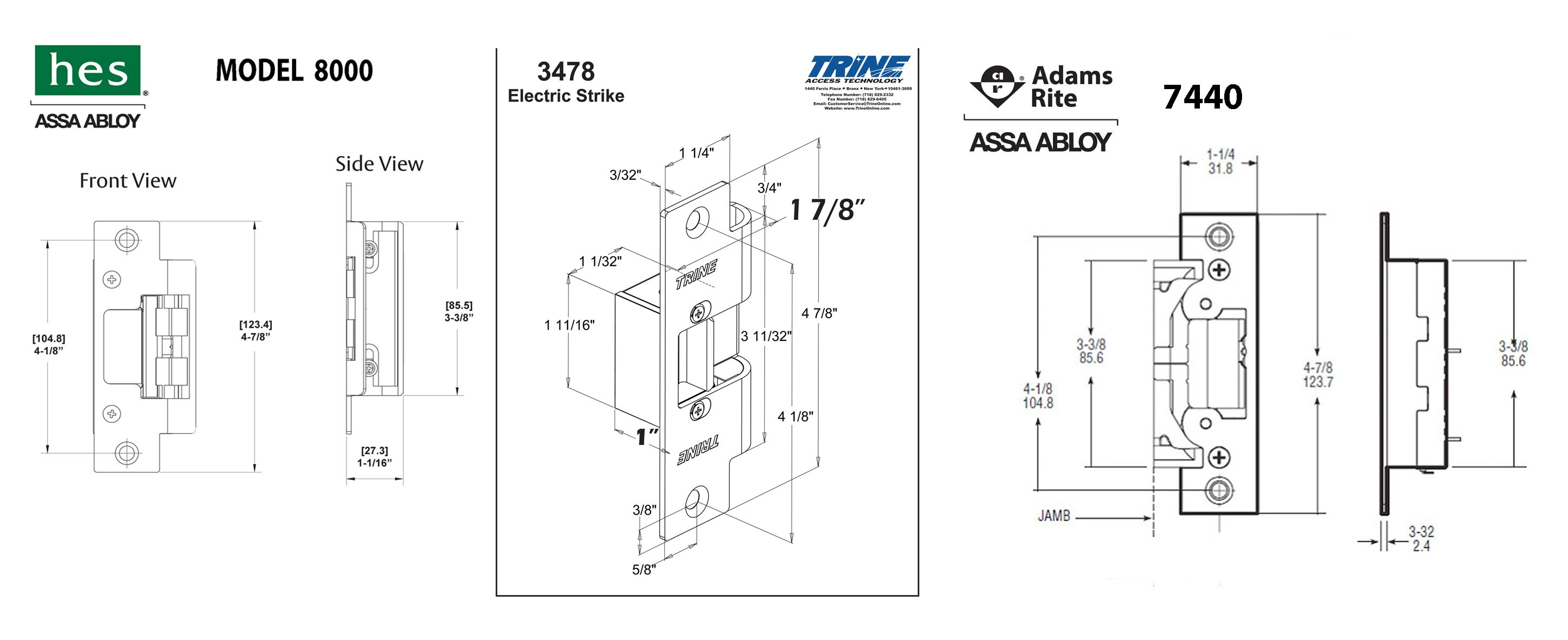 Hes 5000 Series Electric Strike Wiring Diagram