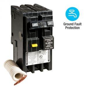 Homeline Breaker Box Wiring Diagram - Homeline 20 Amp 2 Pole Gfci Circuit Breaker 18t