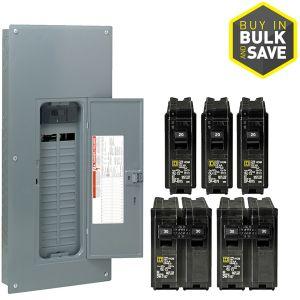 Homeline Breaker Box Wiring Diagram - Square D Homeline 60 Circuit 30 Space 200 Amp Main Breaker Plug 18d