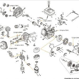 Honda Gx390 Wiring Diagram - Honda Gx160 Parts Diagram Unique Wiring the 25 Hp Kohler 24 Great Honda Gx340 Electric 16r
