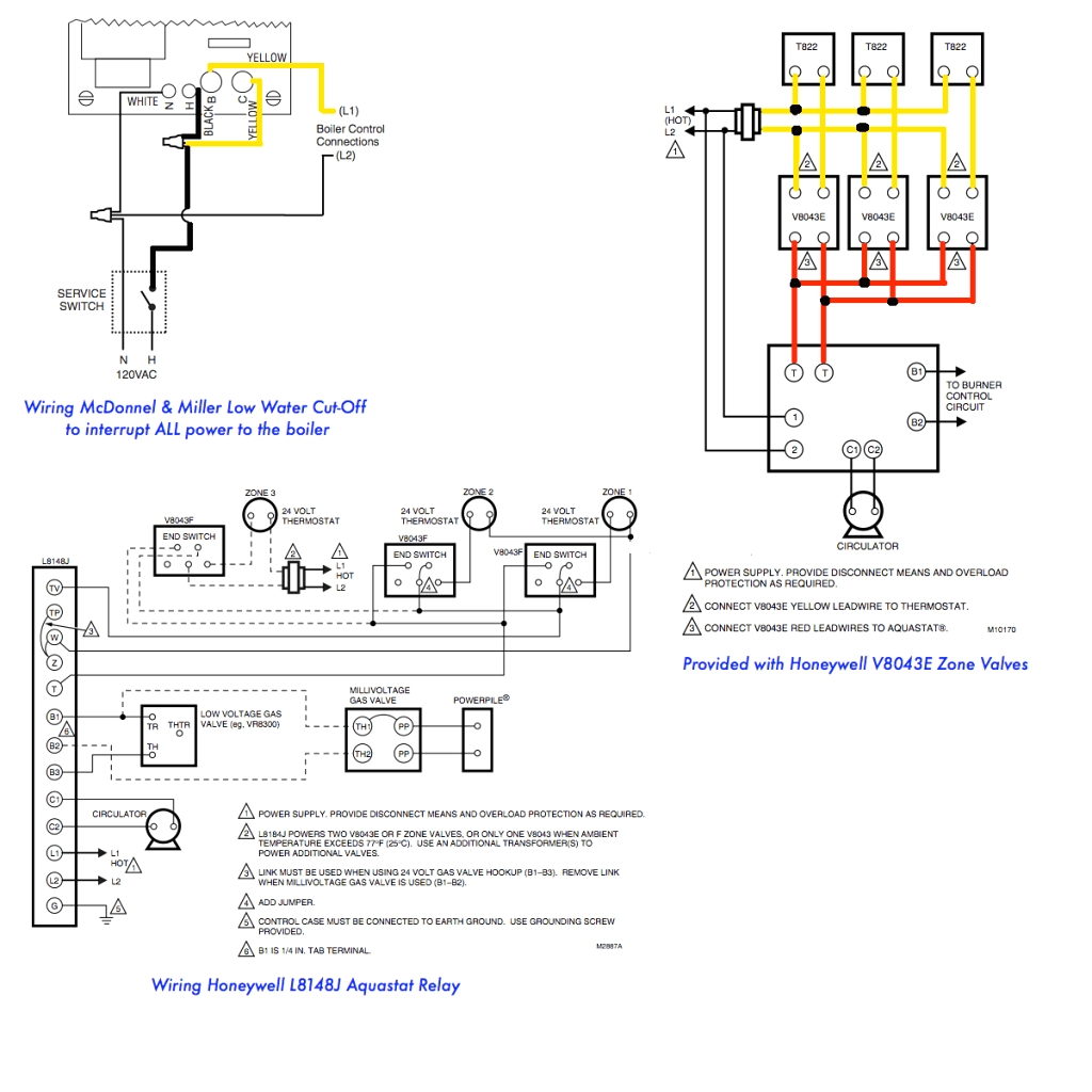 taco zone control wiring diagram with valves honeywell zone control wiring diagram #7