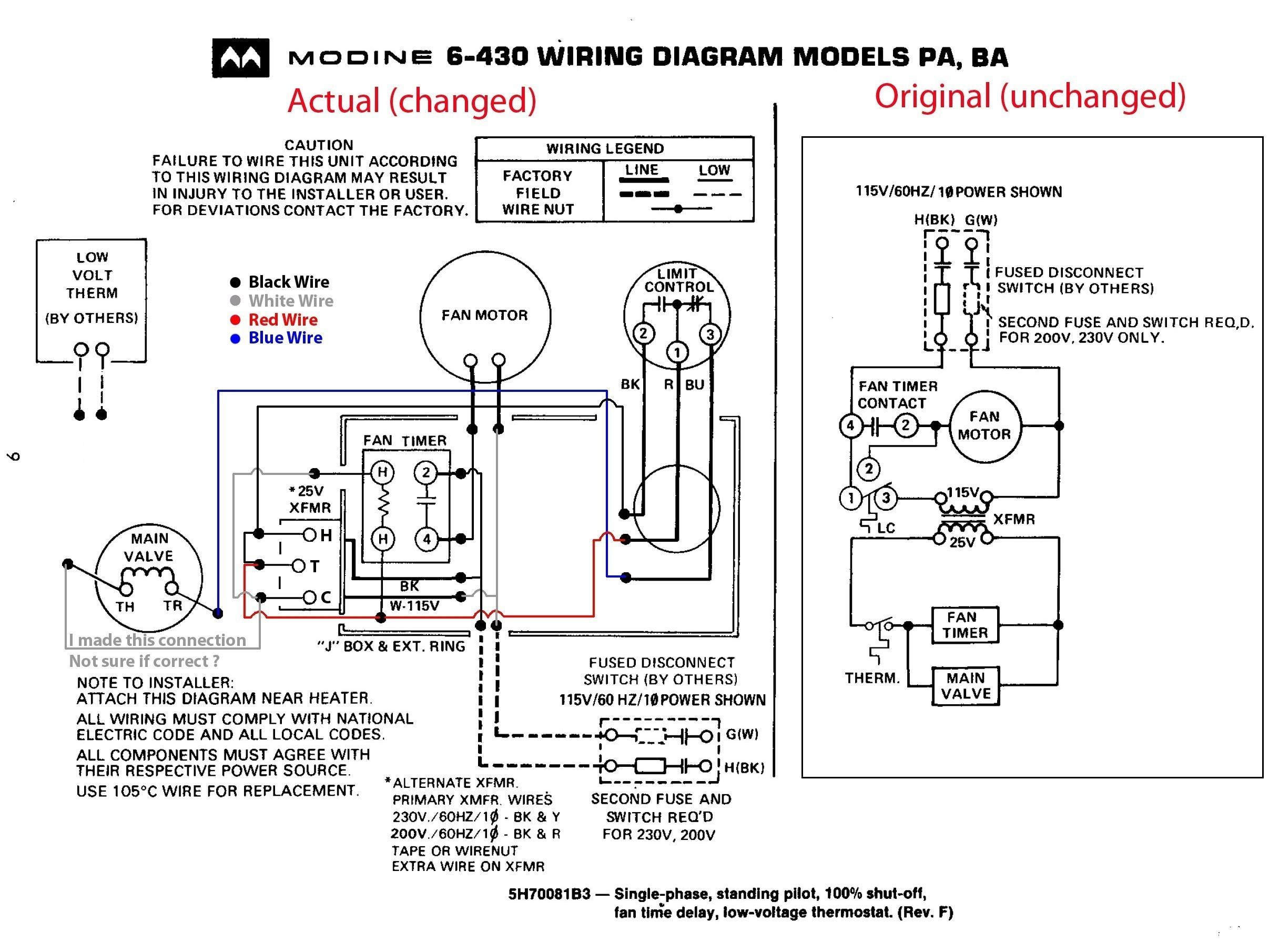 Honeywell Fan Limit Switch Wiring Diagram