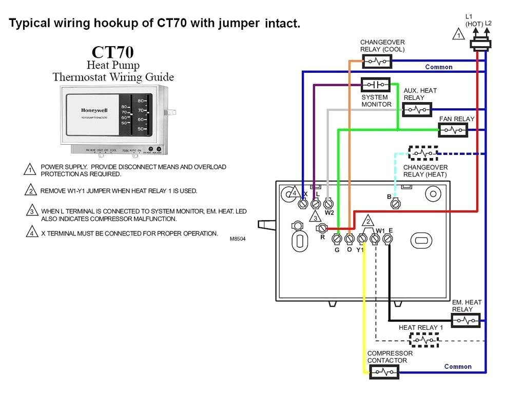 honeywell thermostat ct87n wiring diagram | free wiring ... household thermostat wiring diagrams of