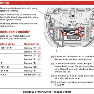 Honeywell thermostat Wiring Diagram 3 Wire - Honeywell thermostat Wiring Instructions Diy House Help Endear 10j