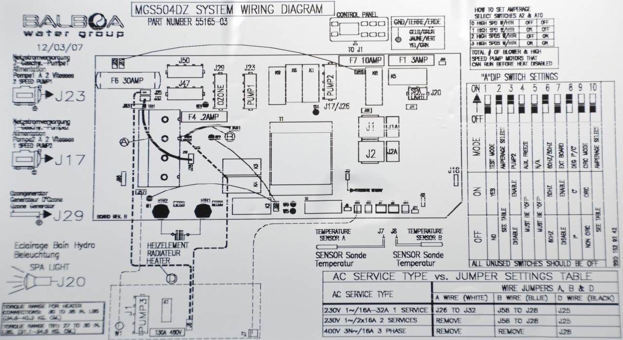 Hot Springs Hot Tub Wiring Diagram