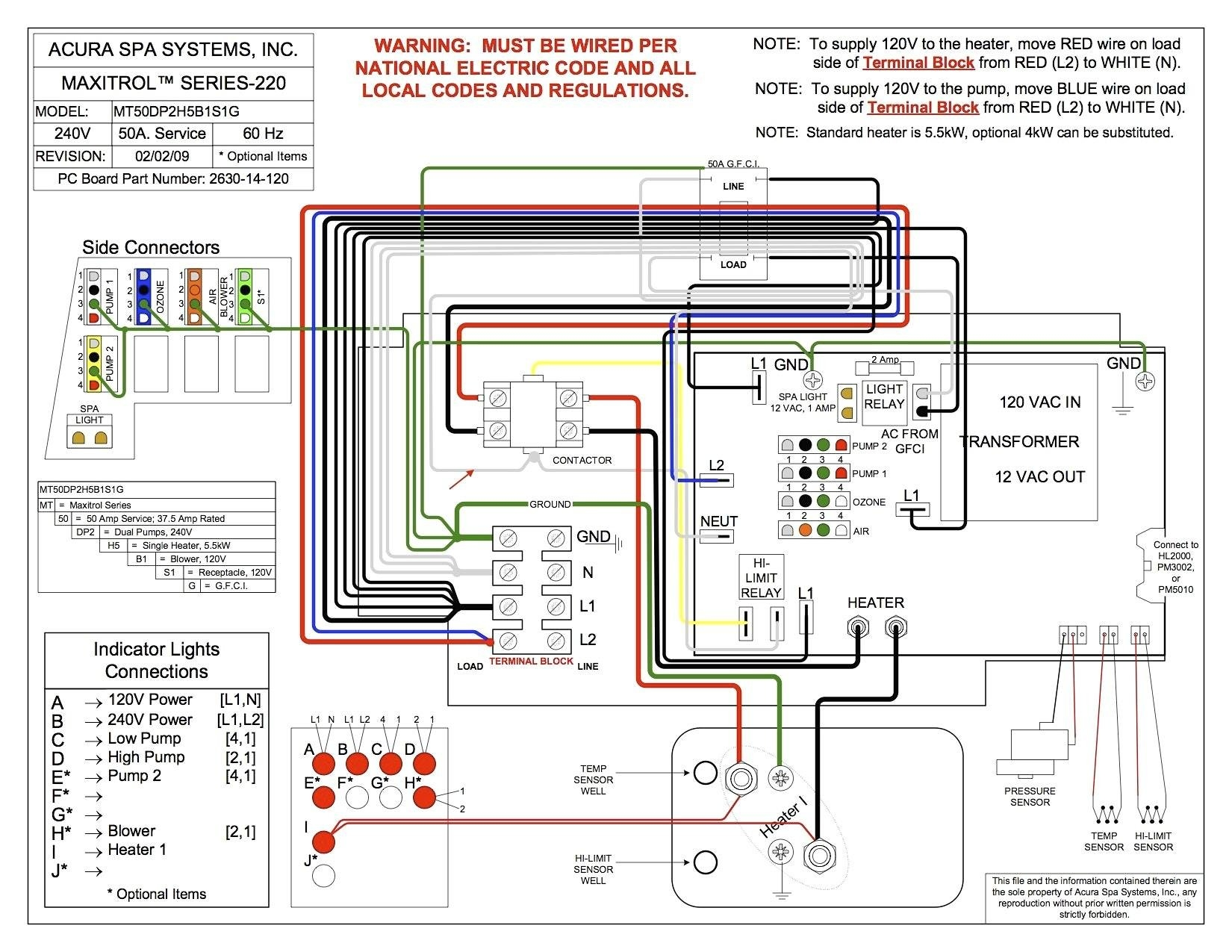 Hot Tub Wiring Schematic | Free Wiring Diagram