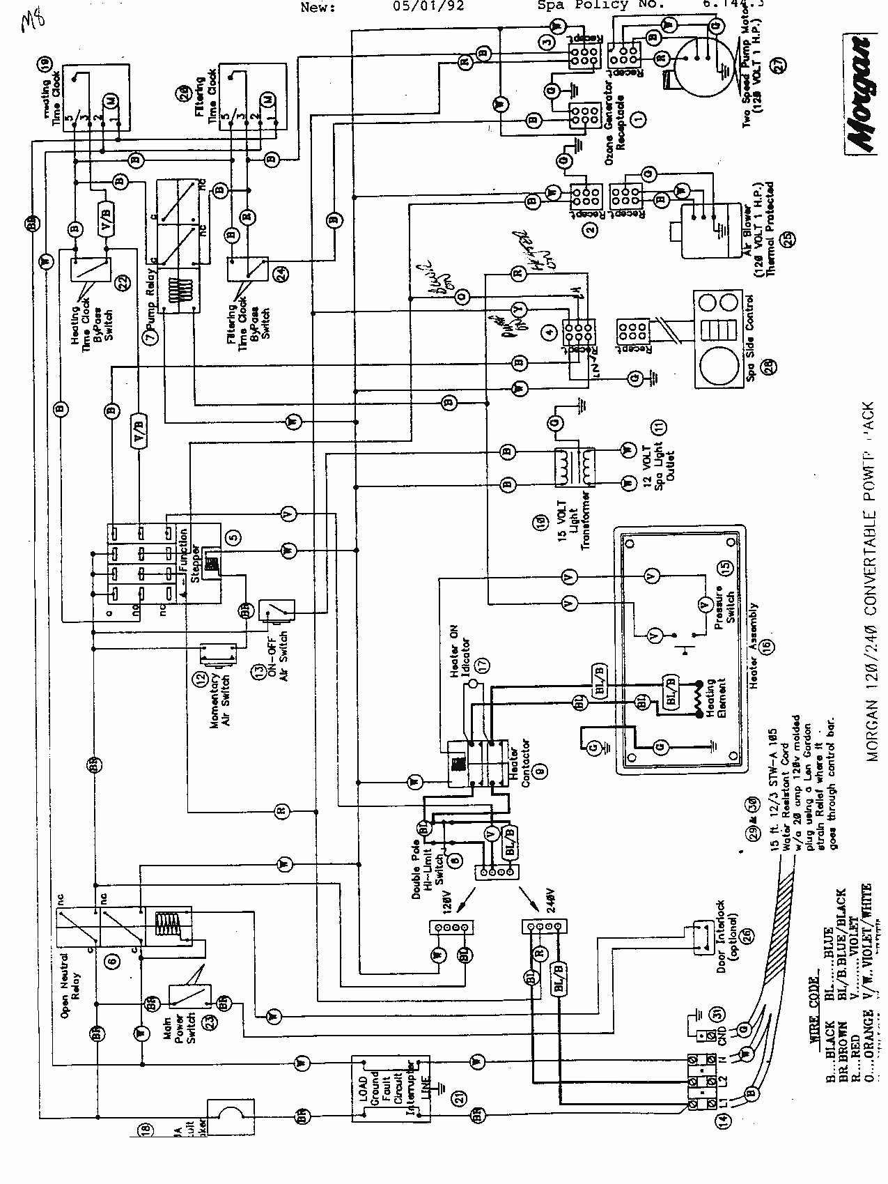 hot tub wiring schematic