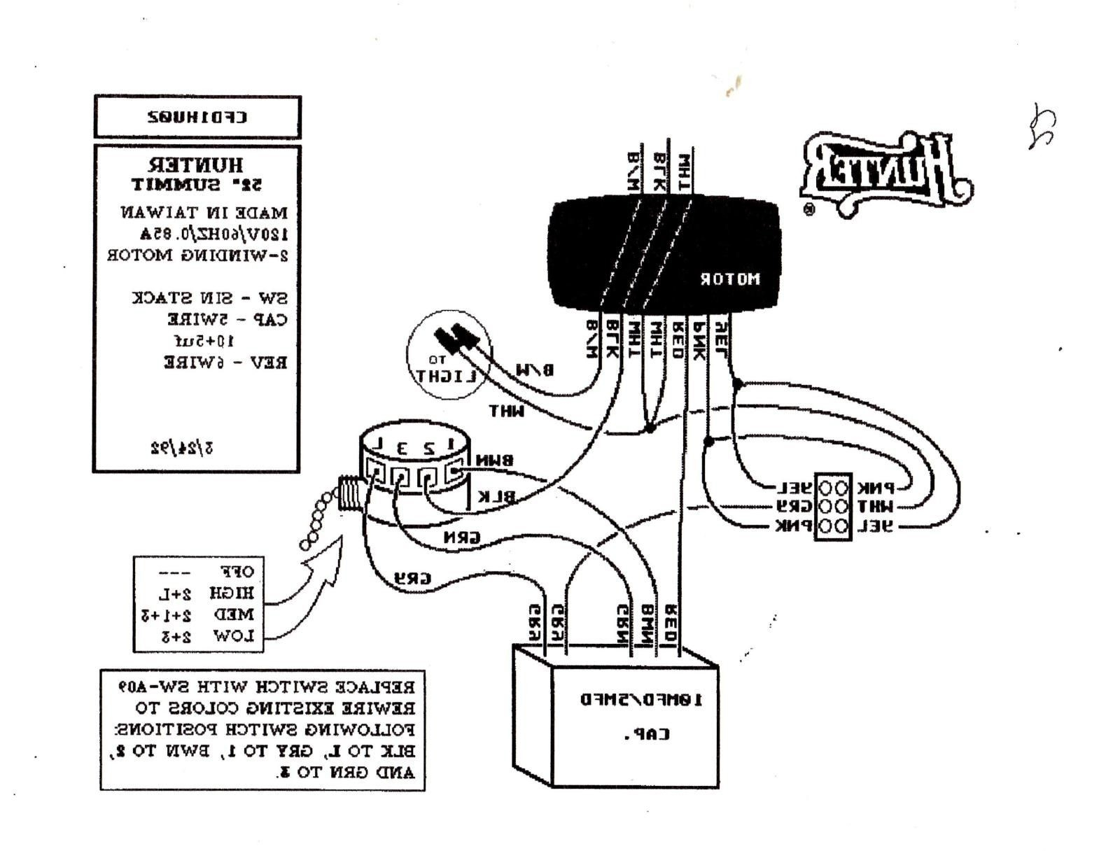 Diagram Hunter 3 Speed Fan Switch Wiring Diagram