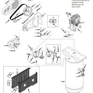 Husky Air Compressor Wiring Diagram - Husky Air Pressor Wiring Diagram Tank assembly Parts 15o
