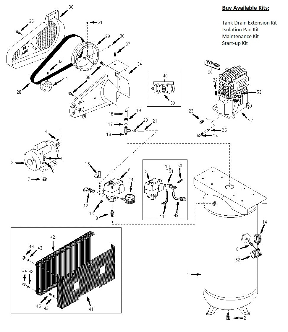 wiring diagram for an air compressor  capacitor for air