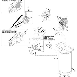 Husky Air Compressor Wiring Diagram - Vt Vt Vt Aj Vt Vt6359 Air Pressor Parts 18g