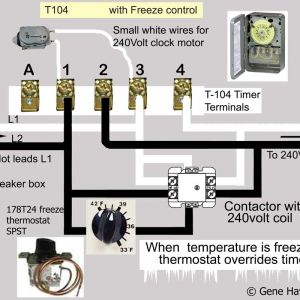 Intermatic 240v Timer Wiring Diagram - T 104 Control Spdt 240v W Freeze2 to Intermatic Pool Timer Wiring Diagram 9o