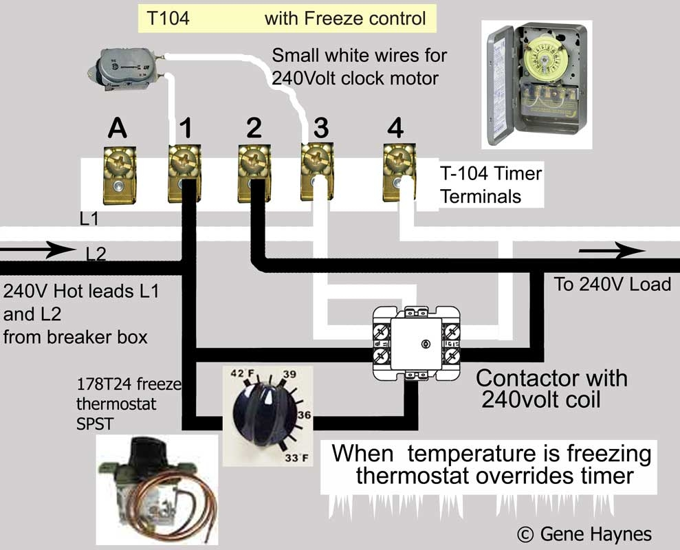 intermatic 240v timer wiring diagram Collection-T 104 Control SPDT 240V W Freeze2 To Intermatic Pool Timer Wiring Diagram 4-d