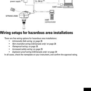Intrinsically Safe Barrier Wiring Diagram - Page 31 Of Lr250de Sitrans Lr250 User Manual Je03 Lr250 Luiok Siemens Canada Ltd 18n