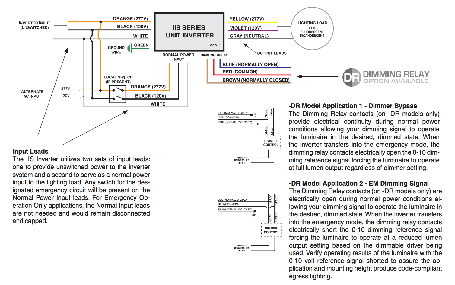 Iota Emergency Ballast Wiring Diagram