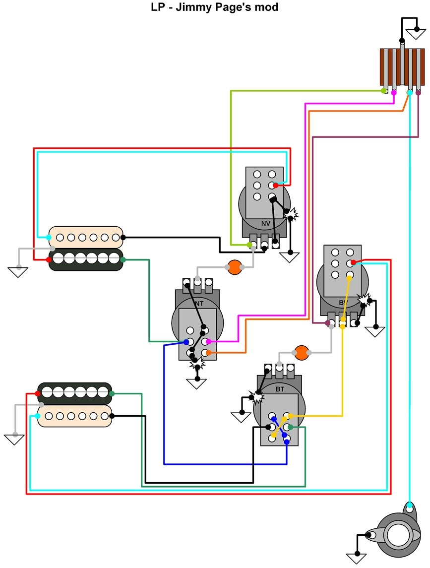 jimmy page les paul wiring schematic Download-Electric Guitar Wiring Diagram Luxury Hermetico Guitar Wiring Diagram Jimmy Page S Mod 19-a